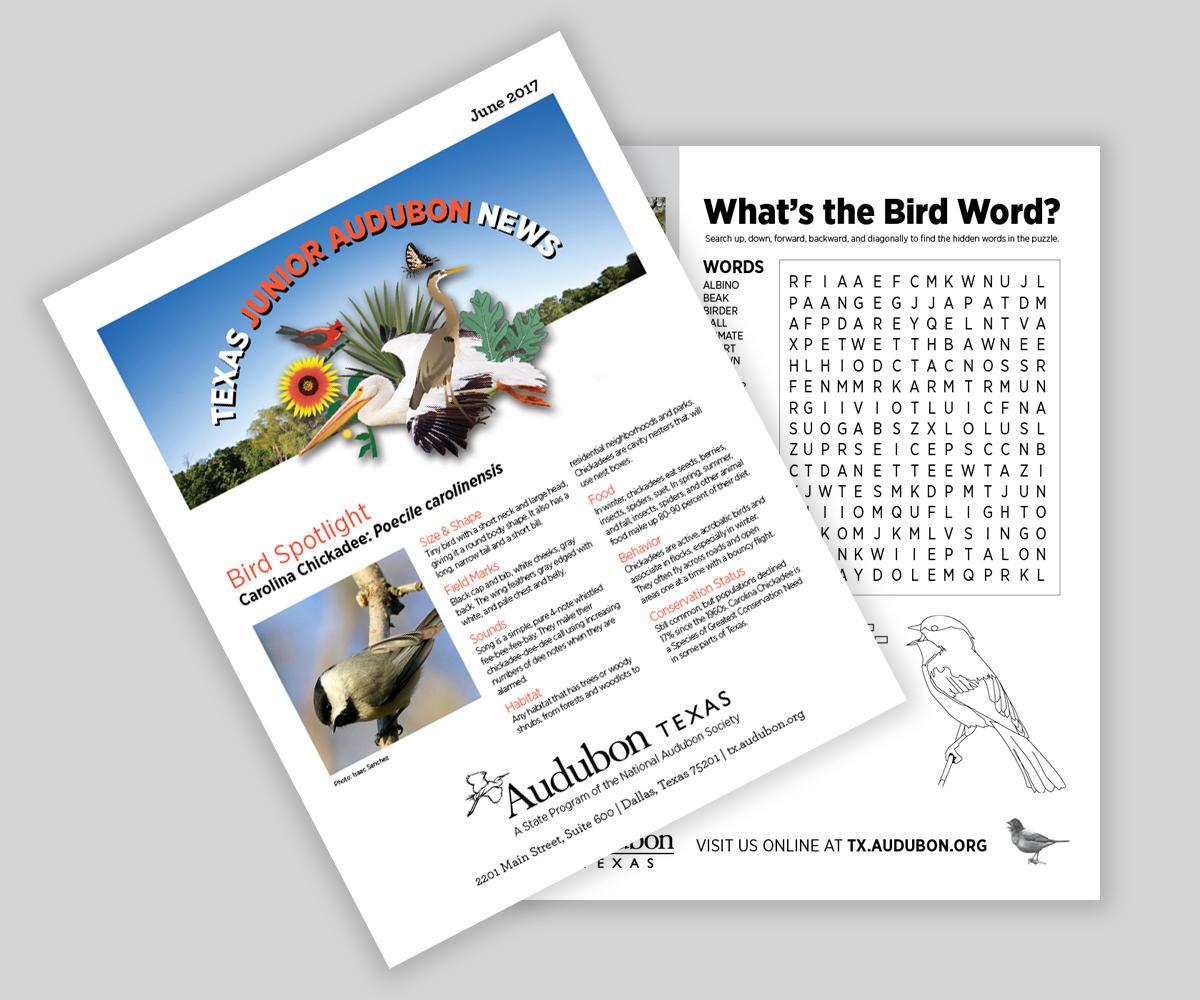 Texas Junior Audubon News