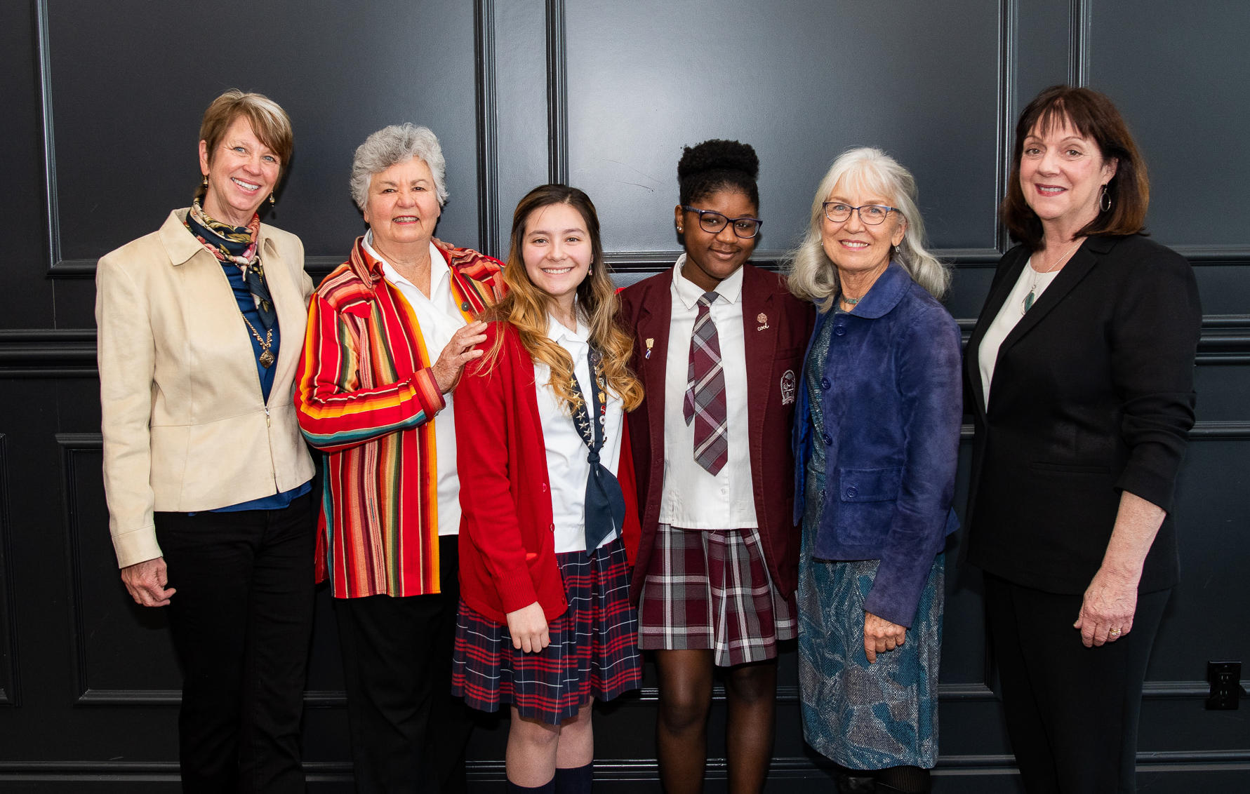 Honorees and Students